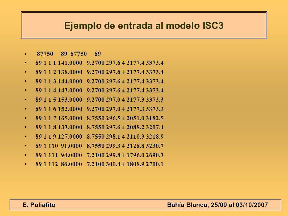 E. Puliafito Bahía Blanca, 25/09 al 03/10/2007 87750 89 87750 89 89 1 1 1 141.0000 9.2700 297.6 4 2177.4 3373.4 89 1 1 2 138.0000 9.2700 297.6 4 2177.