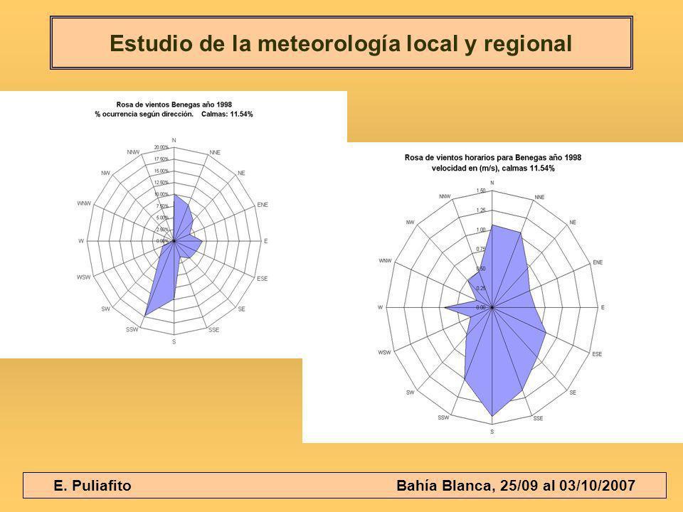 E. Puliafito Bahía Blanca, 25/09 al 03/10/2007 Estudio de la meteorología local y regional