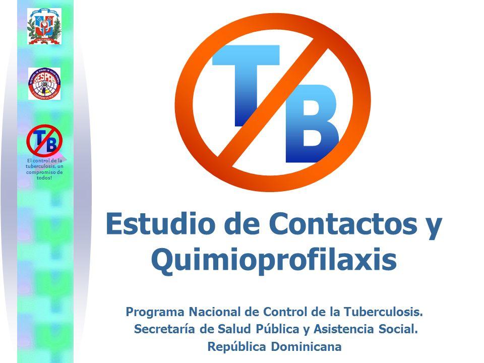 El control de la tuberculosis, un compromiso de todos! Estudio de Contactos y Quimioprofilaxis Programa Nacional de Control de la Tuberculosis. Secret