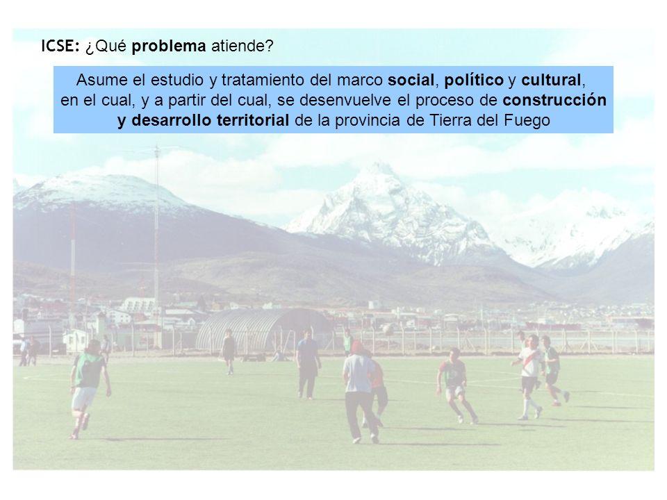 Asume el estudio y tratamiento del marco social, político y cultural, en el cual, y a partir del cual, se desenvuelve el proceso de construcción y desarrollo territorial de la provincia de Tierra del Fuego