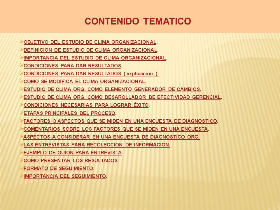 CONTENIDO TEMATICO