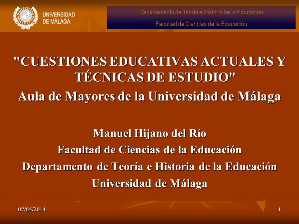 07/05/20142 Objetivos del curso 1.Conocer los orígenes históricos del sistema educativo actual 2.