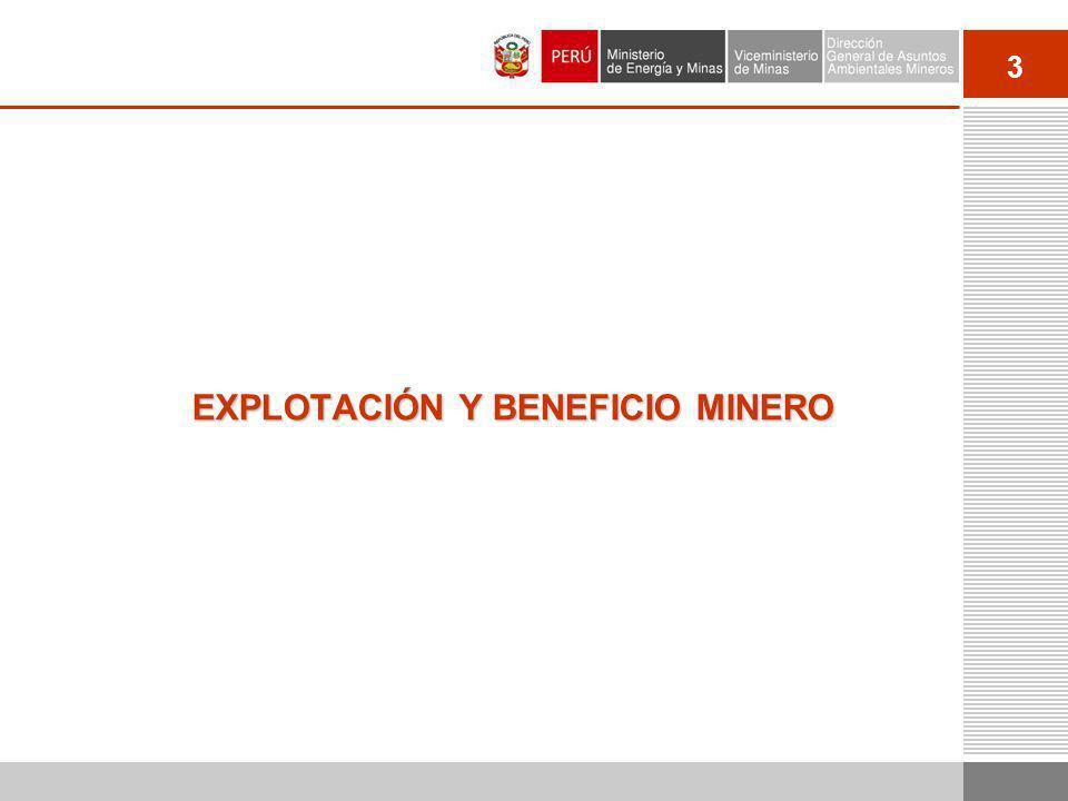 3 EXPLOTACIÓN Y BENEFICIO MINERO