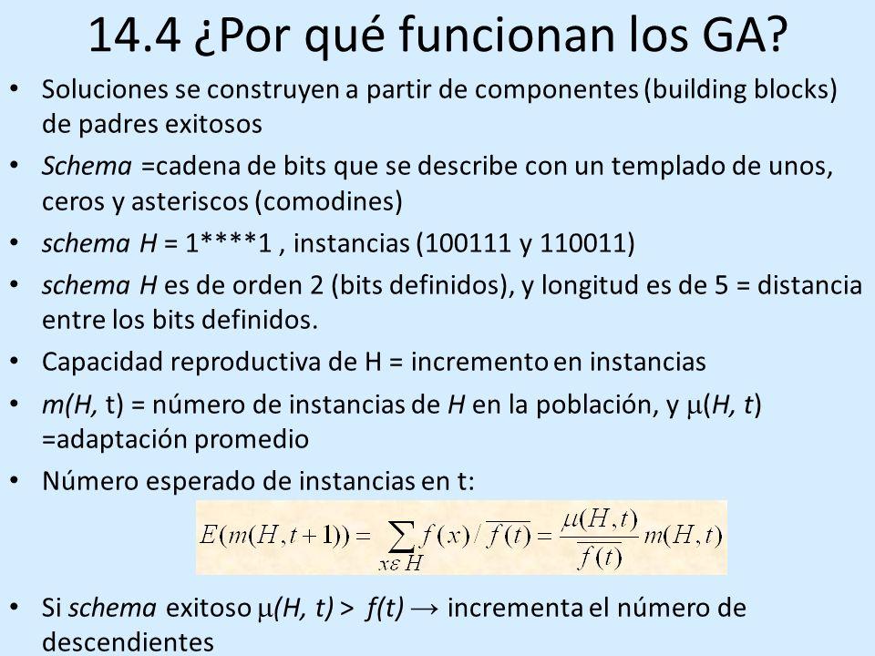 14.4 ¿Por qué funcionan los GA.