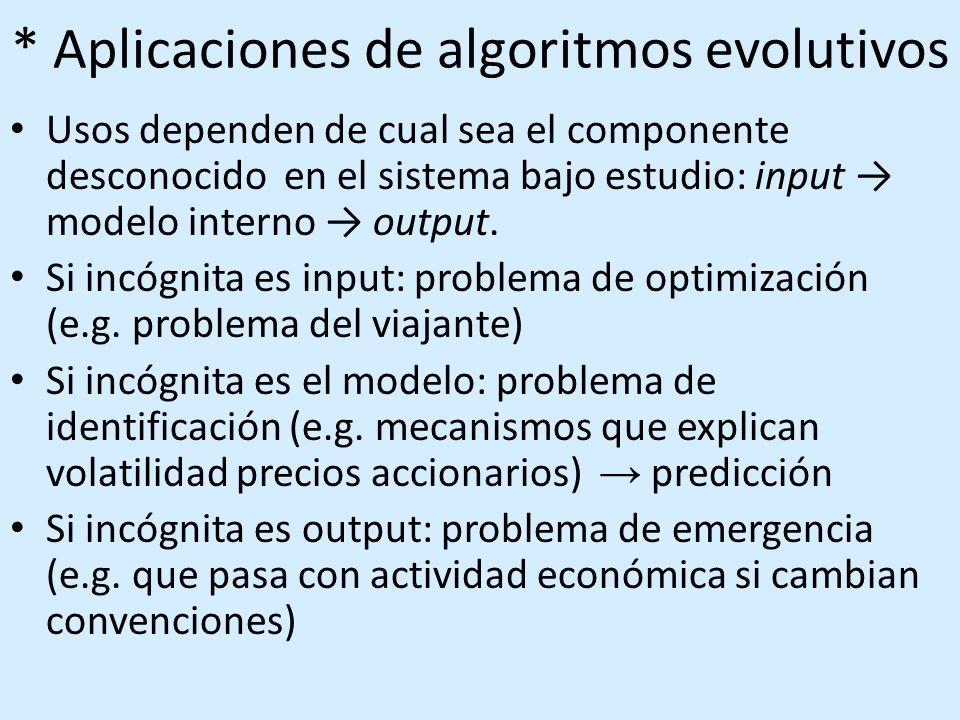 * ¿En que consiste algoritmo evolutivo.