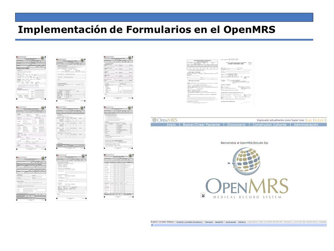 Implementación de Formularios en el OpenMRS