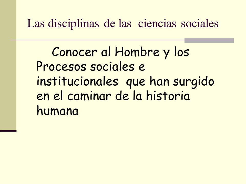 Complejidad del comportamiento humano y los cambios vertiginosos que responden a los avances tecnológicos Requieren de una alta especialización en las ciencias sociales.