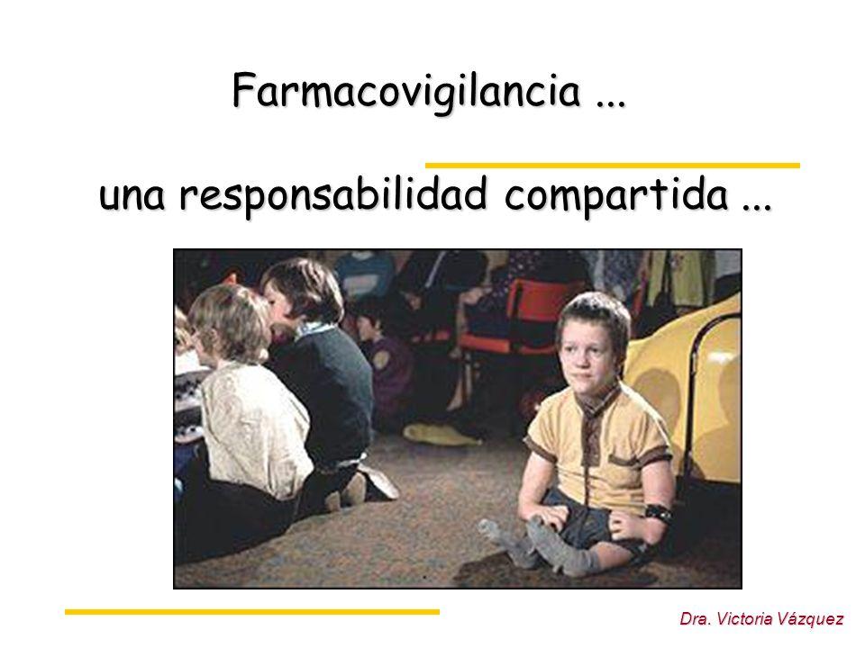 Dra. Victoria Vázquez Farmacovigilancia... una responsabilidad compartida...