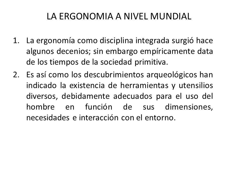 CARACTER MULTIDISCIPLINARIO DE LA ERGONOMIA