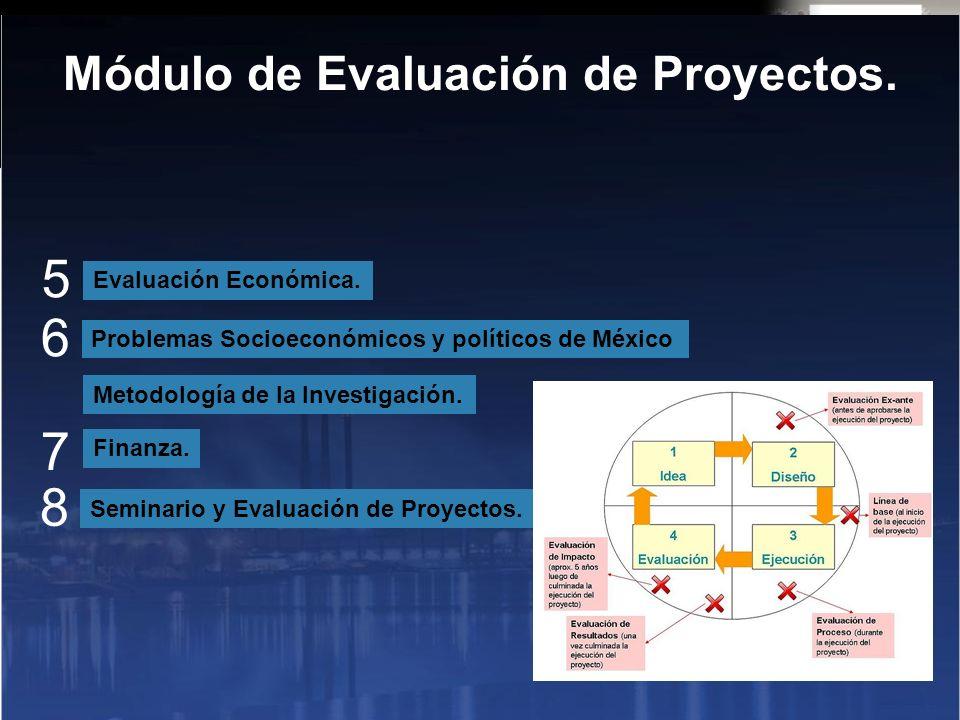 Evaluación Económica. Problemas Socioeconómicos y políticos de México Finanza.