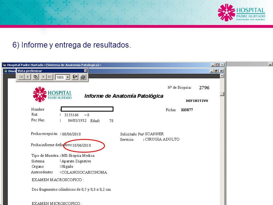 20 6) Informe y entrega de resultados.