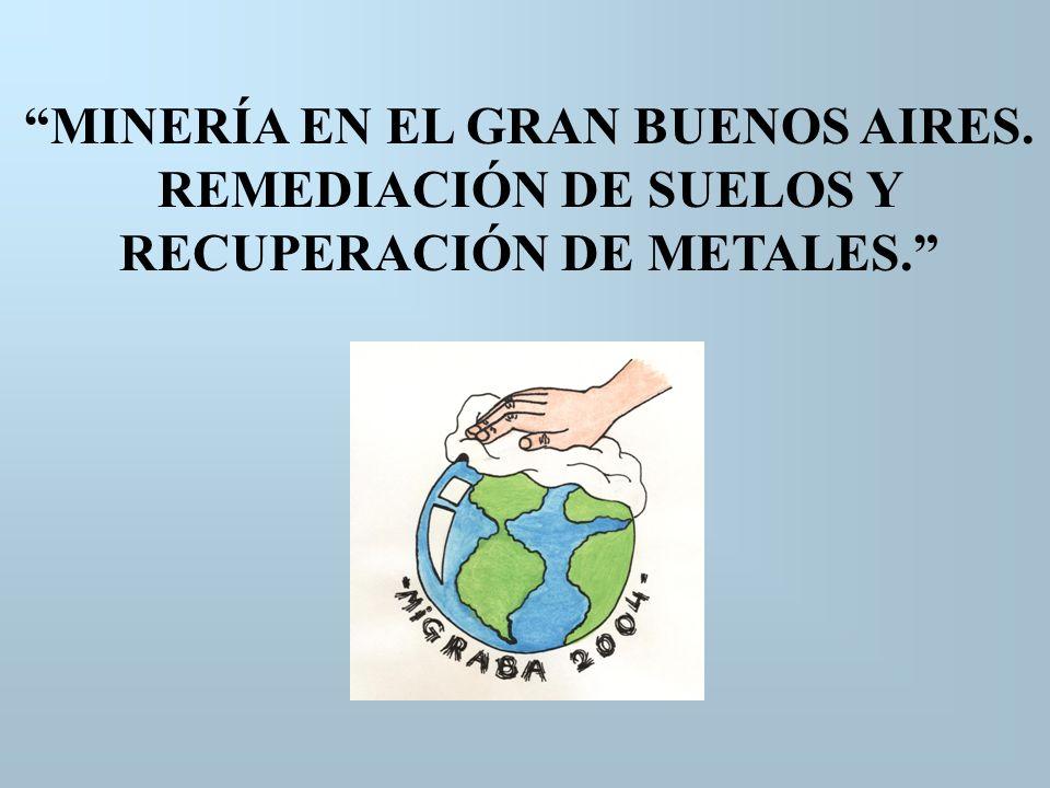 MINERÍA EN EL GRAN BUENOS AIRES. REMEDIACIÓN DE SUELOS Y RECUPERACIÓN DE METALES.