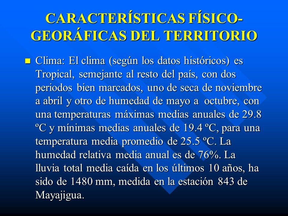 CARACTERÍSTICAS FÍSICO- GEORÁFICAS DEL TERRITORIO Ubicación: El balneario de San José del Lago está ubicado al suroeste del poblado de Mayajigua en el