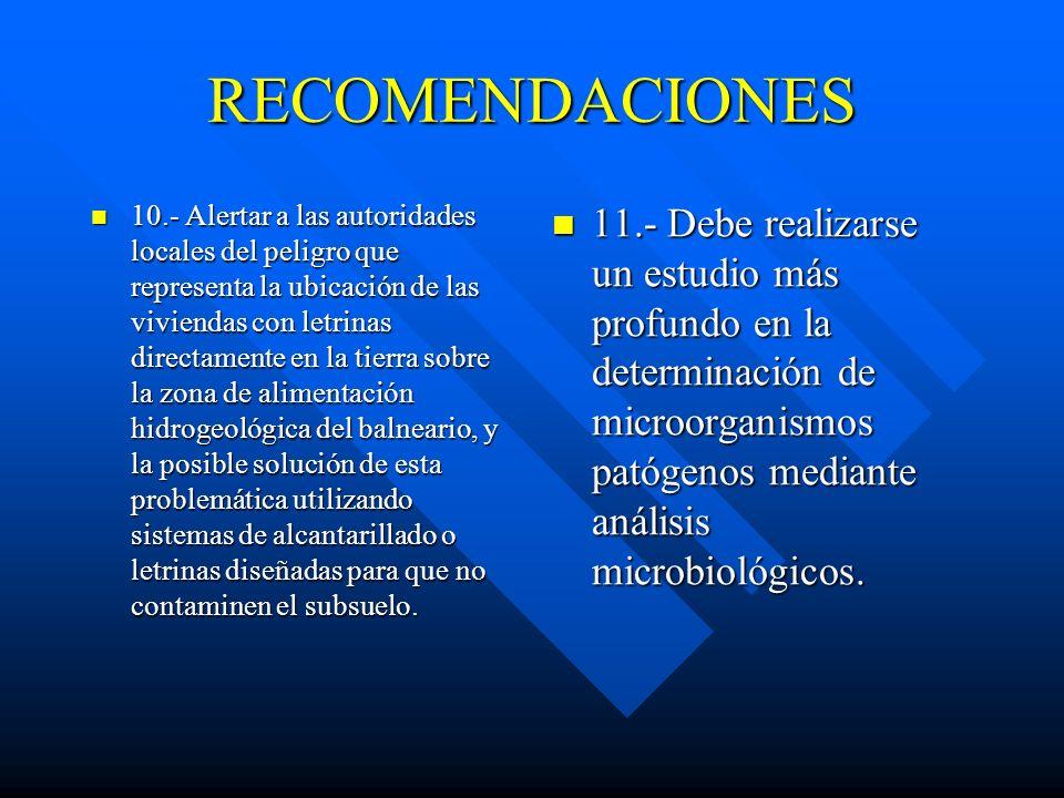 RECOMENDACIONES 7.- Desde el punto de vista de la temática de arte y salud debe organizarse esta temática aprovechando el potencial cultural de los pu