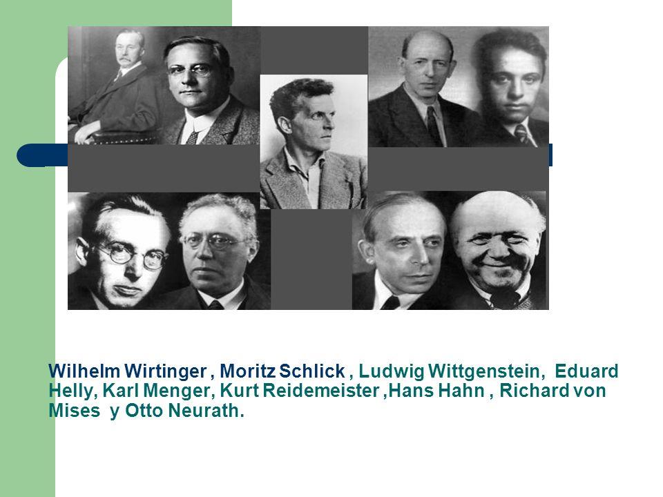 Wilhelm Wirtinger, Moritz Schlick, Ludwig Wittgenstein, Eduard Helly, Karl Menger, Kurt Reidemeister,Hans Hahn, Richard von Mises y Otto Neurath.