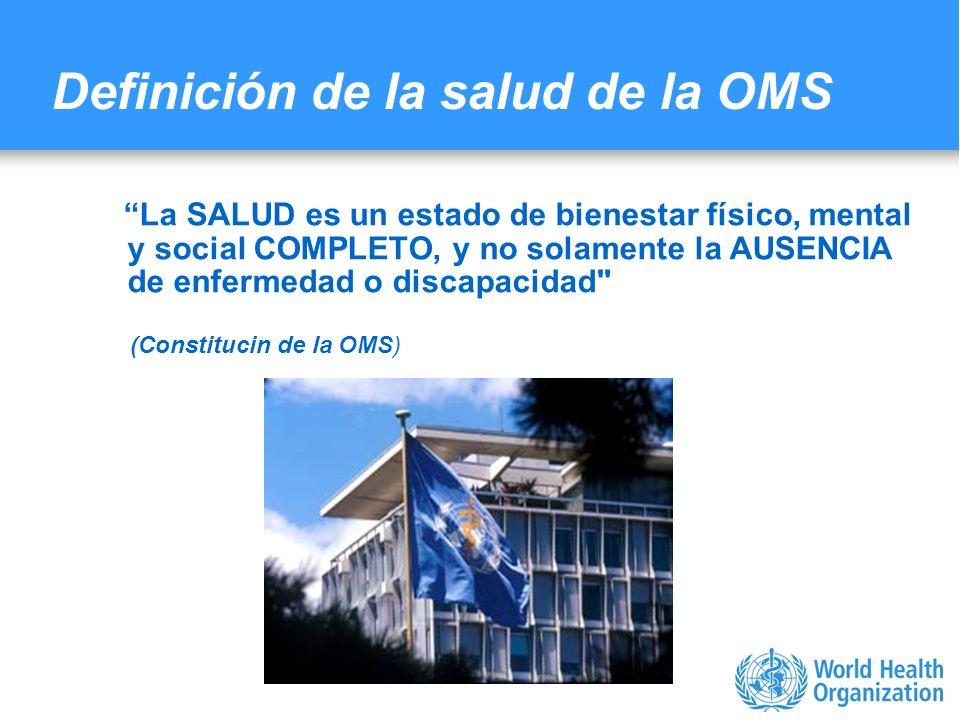 Characterizing evidence in EMF risk assessment, Berlin, 4-5 May 2006 Definición de la salud de la OMS La SALUD es un estado de bienestar físico, menta