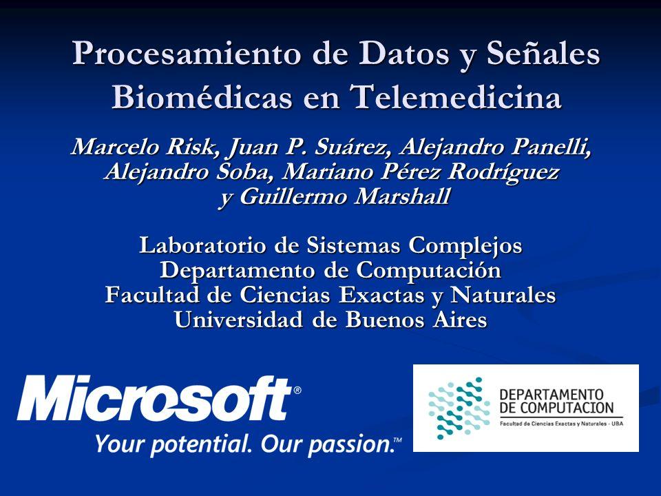 Marcelo Risk, Juan P. Suárez, Alejandro Panelli, Alejandro Soba, Mariano Pérez Rodríguez y Guillermo Marshall Laboratorio de Sistemas Complejos Depart