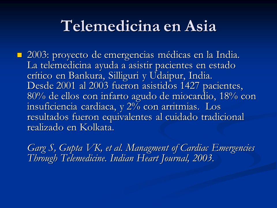 Telemedicina en Asia 2003: proyecto de emergencias médicas en la India. La telemedicina ayuda a asistir pacientes en estado crítico en Bankura, Sillig