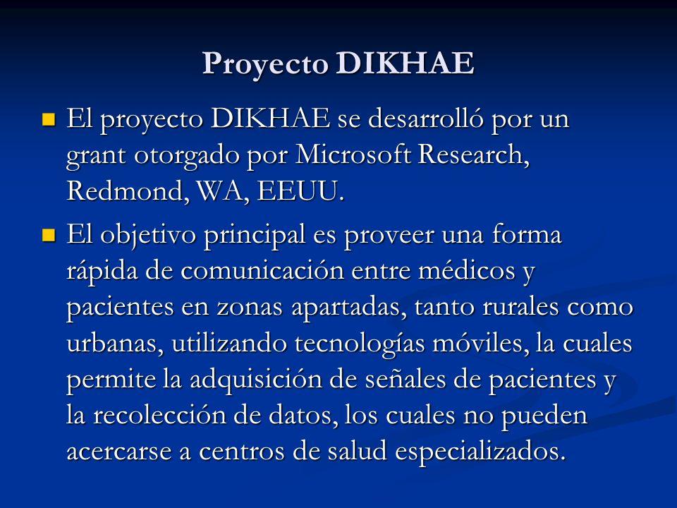 Proyecto DIKHAE El proyecto DIKHAE se desarrolló por un grant otorgado por Microsoft Research, Redmond, WA, EEUU. El proyecto DIKHAE se desarrolló por