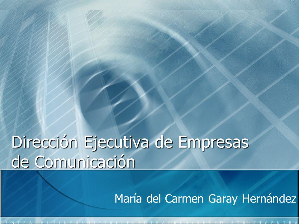 Dirección Ejecutiva de Empresas de Comunicación María del Carmen Garay Hernández