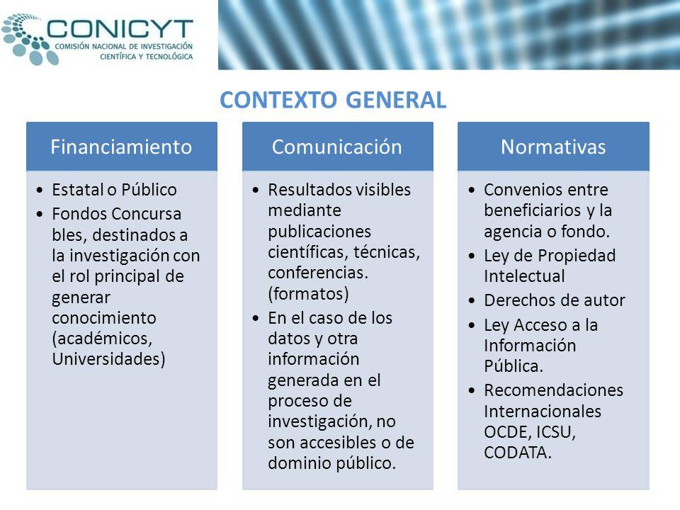 EN ESTE ESCENARIO EL SISTEMA NOS PRESENTA DESAFIOS Impone un nuevo desafío la implementación de Estrategias nacionales para el desarrollo de la gestión de datos de investigación e información producida en Chile a través de financiamiento público.