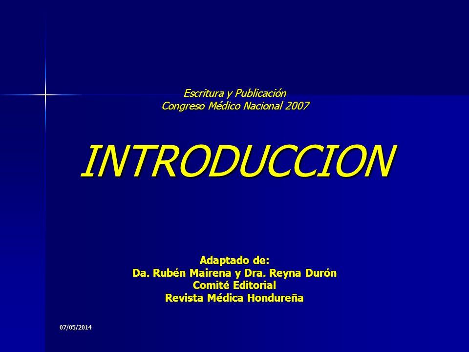 07/05/2014 UN ARTICULO DEBE ESTAR ORGANIZADO PARA RESPONDER 4 PREGUNTAS DE LOS REVISORES Y LOS LECTORES 1.
