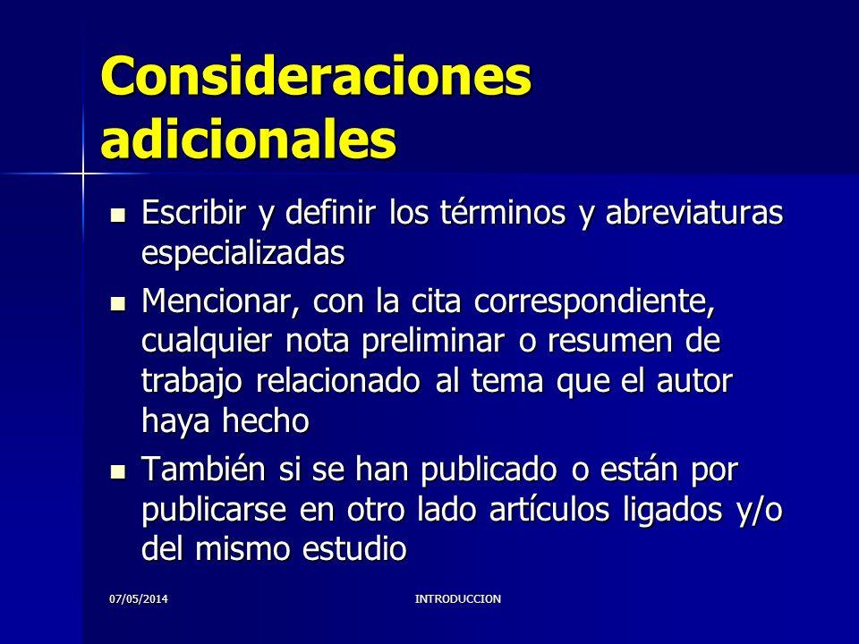 07/05/2014INTRODUCCION Qué revisa el C.E.de la RMH.