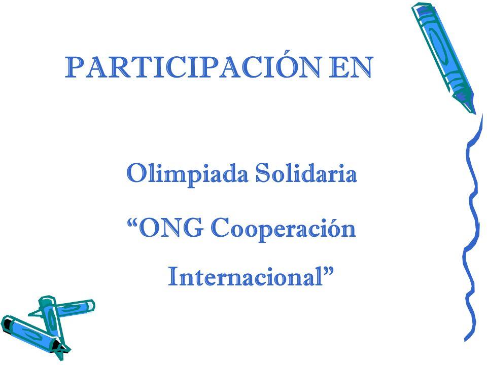 PARTICIPACIÓN EN Olimpiada Solidaria ONG Cooperación Internacional
