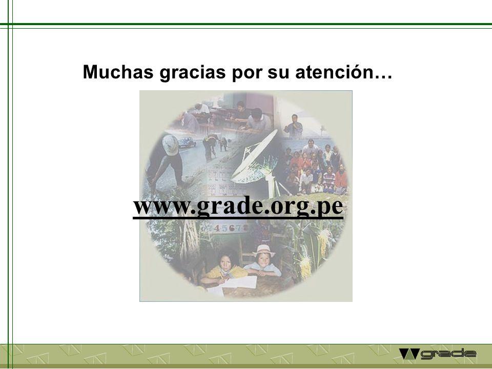 www.grade.org.pe Muchas gracias por su atención…