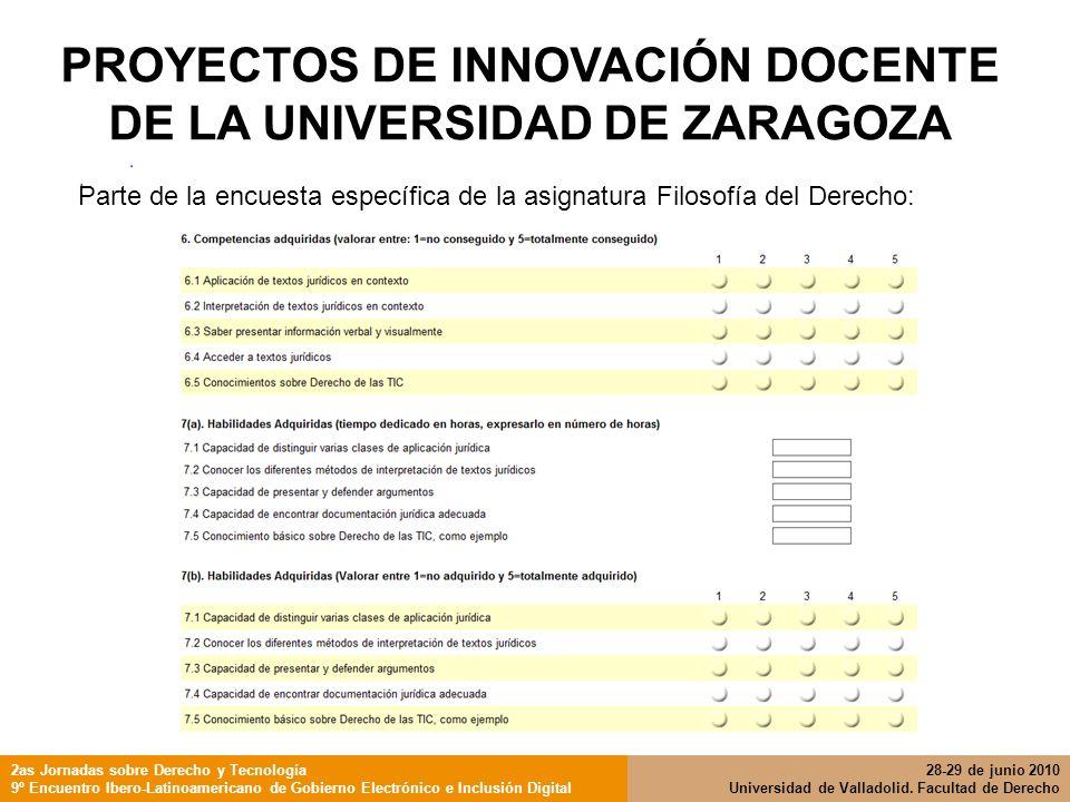 2as Jornadas sobre Derecho y Tecnología 9º Encuentro Ibero-Latinoamericano de Gobierno Electrónico e Inclusión Digital 28-29 de junio 2010 Universidad