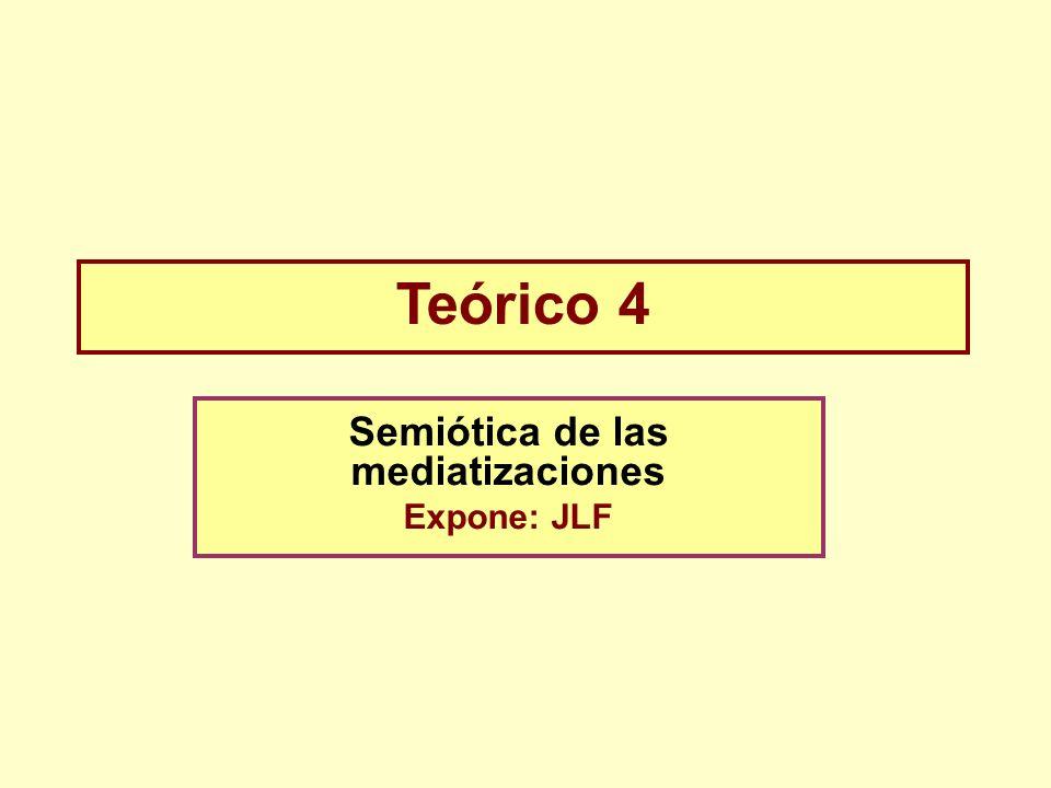 Teórico 4 Semiótica de las mediatizaciones Expone: JLF