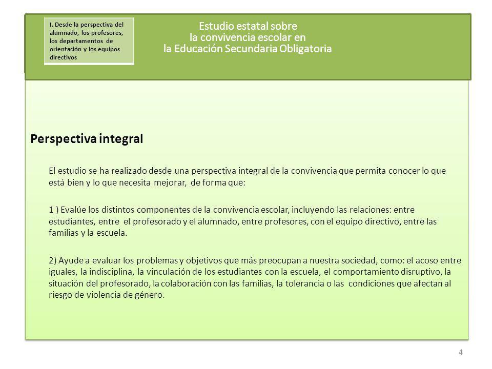 Descripción de las familias participantes Se seleccionaron los mismos centros educativos y las mismas aulas que en el estudio anterior realizado a través del alumnado, el profesorado, los departamentos de orientación y los equipos directivos De ellas, 9737 (90,4%) fueron cumplimentadas por las familias en papel y 1031 (9,6%) a través de Internet Coordinación desde las Federaciones de AMPAS para la evaluación en el Estudio Piloto Juan Vilches, CEAPA Francisca Cea, CONCAPA Evaluación desde los centros En este estudio han trabajado más de 347 personas coordinando la evaluación en cada centro,.