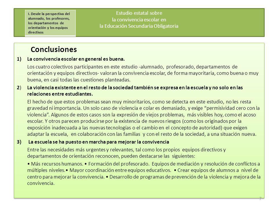 4.Mejorar la eficacia educativa de las sanciones 5.