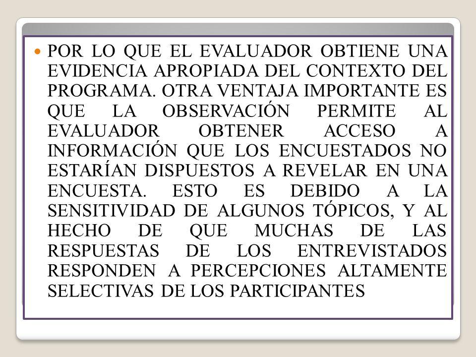 VENTAJAS Y DESVENTAJAS DEL ESTUDIO DE CASO VENTAJASDESVENTAJAS PERMITE LLEGAR A UNA RELACIÓNREQUIERE UNA GRAN PRECISIÓN, ESTRECHA Y PROFUNDA CON LOSPUDE SER MUY SUBJETIVO, PARTICIPANTESREQUIERE MUCHO TIEMPO Y UNA GRAN CANTIDAD DE INFORMACIÓN PUEDE SER EFICIENTEMENTEEL ÉNFASIS ES EN UN NÚMERO COMBINADO CON OTROS MÉTODOS,LIMITADO DE CASOS.