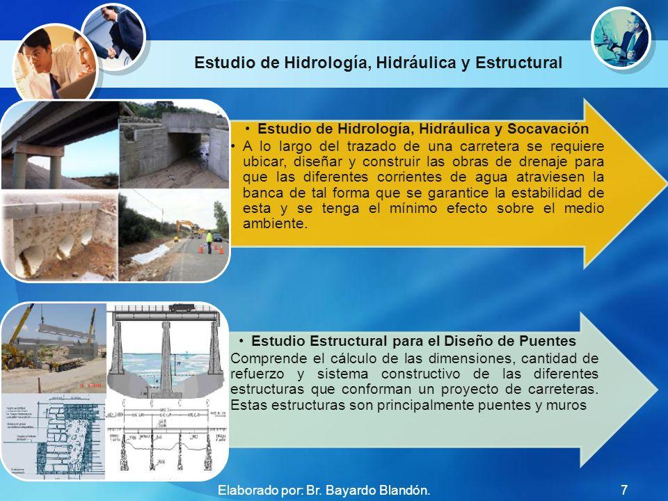 Estudio de Hidrología, Hidráulica y Estructural Estudio de Hidrología, Hidráulica y Socavación A lo largo del trazado de una carretera se requiere ubi