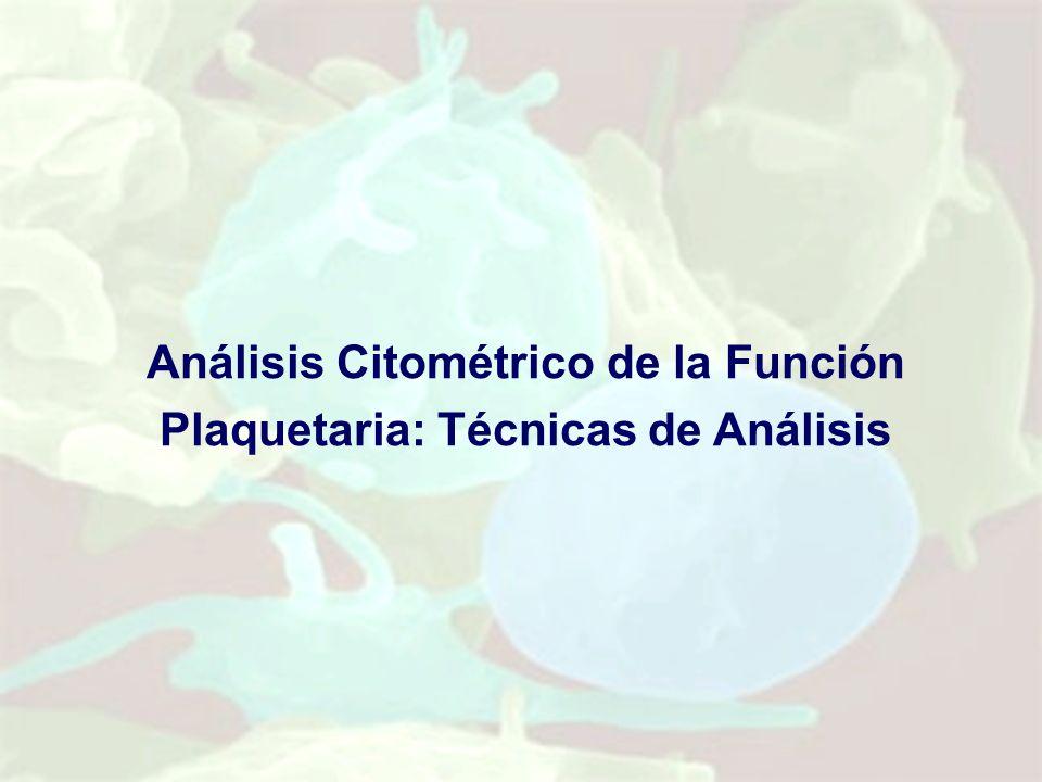 Análisis Citométrico de la Función Plaquetaria: Técnicas de Análisis