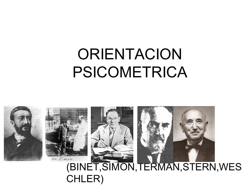 ORIENTACION PSICOMETRICA (BINET,SIMON,TERMAN,STERN,WES CHLER)