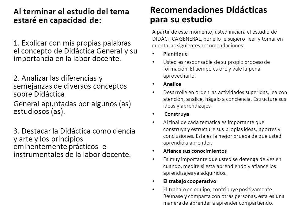 La didáctica se ocupa de la comunicación estratégica de saberes y fundamenta las intervenciones docentes en los procesos de enseñanza/aprendizaje.