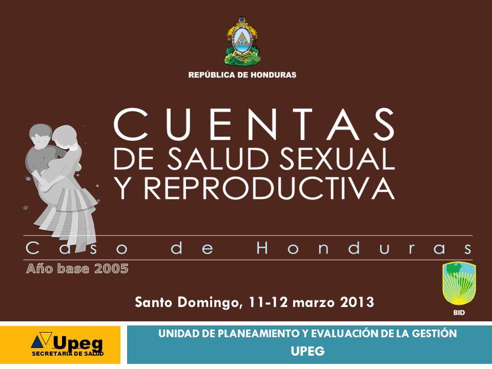 UNIDAD DE PLANEAMIENTO Y EVALUACIÓN DE LA GESTIÓN UPEG Santo Domingo, 11-12 marzo 2013 Upeg SECRETARIA DE SALUD