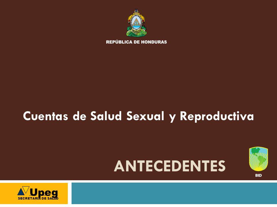 ANTECEDENTES Cuentas de Salud Sexual y Reproductiva Upeg SECRETARIA DE SALUD