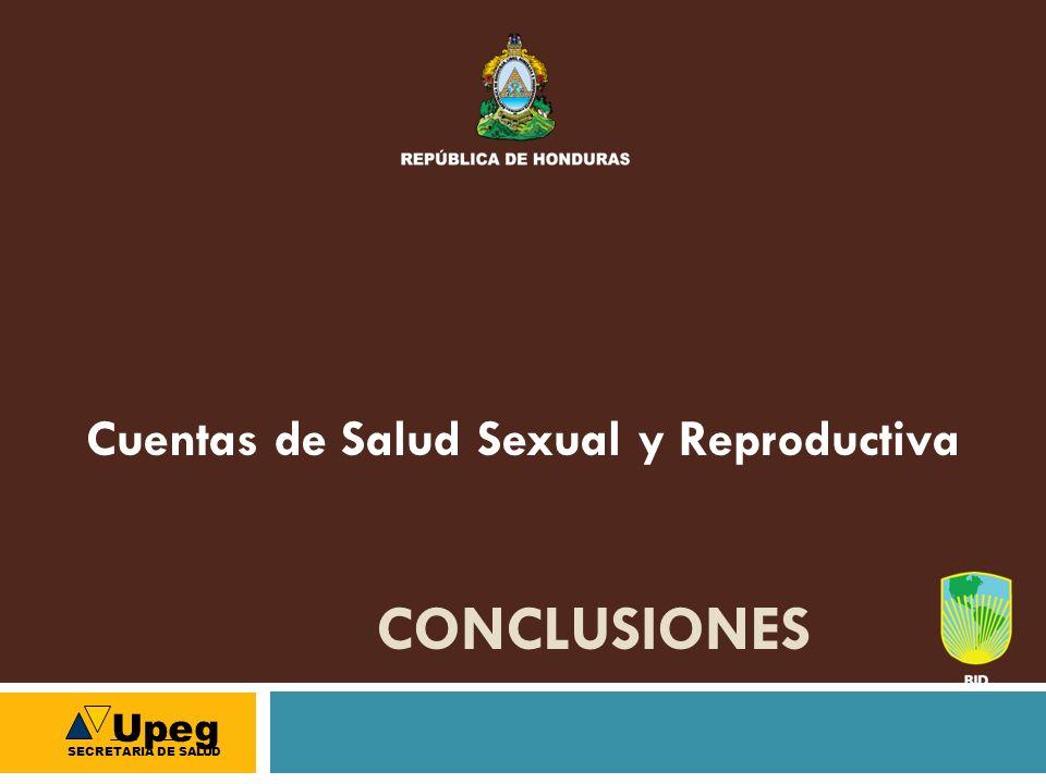 CONCLUSIONES Cuentas de Salud Sexual y Reproductiva Upeg SECRETARIA DE SALUD
