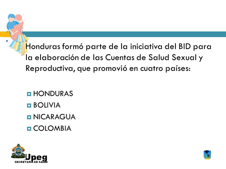Upeg SECRETARIA DE SALUD Honduras formó parte de la iniciativa del BID para la elaboración de las Cuentas de Salud Sexual y Reproductiva, que promovió