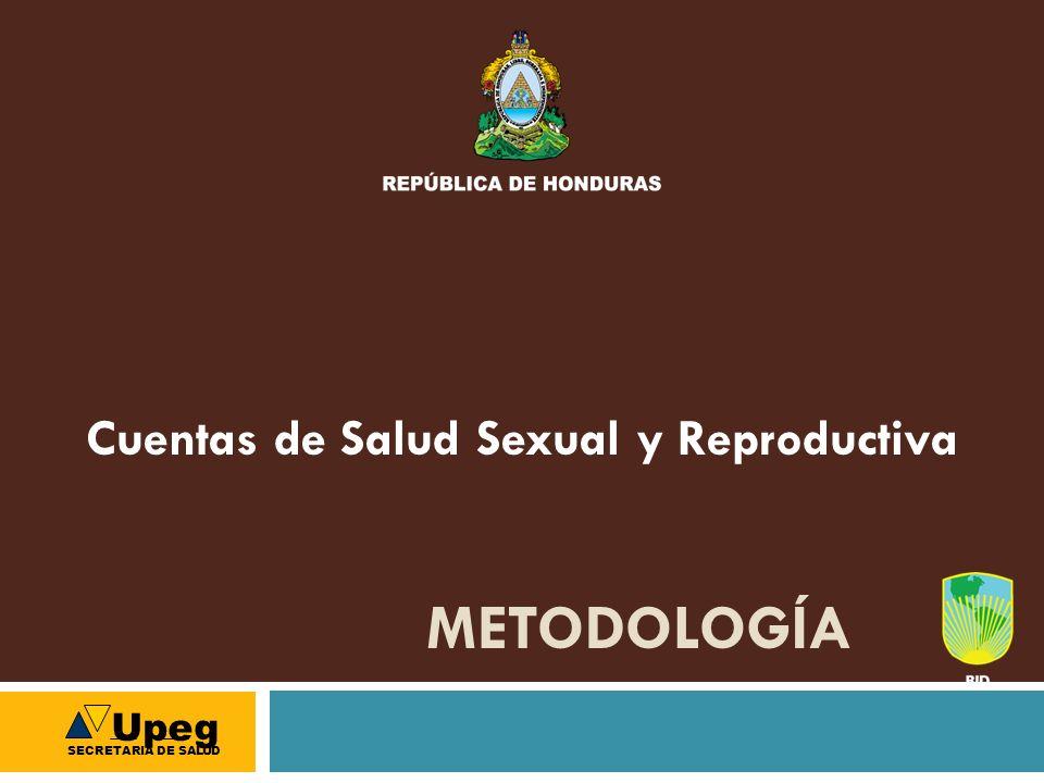 METODOLOGÍA Cuentas de Salud Sexual y Reproductiva Upeg SECRETARIA DE SALUD