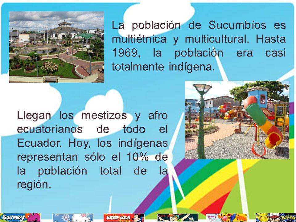 Llegan los mestizos y afro ecuatorianos de todo el Ecuador. Hoy, los indígenas representan sólo el 10% de la población total de la región. La població