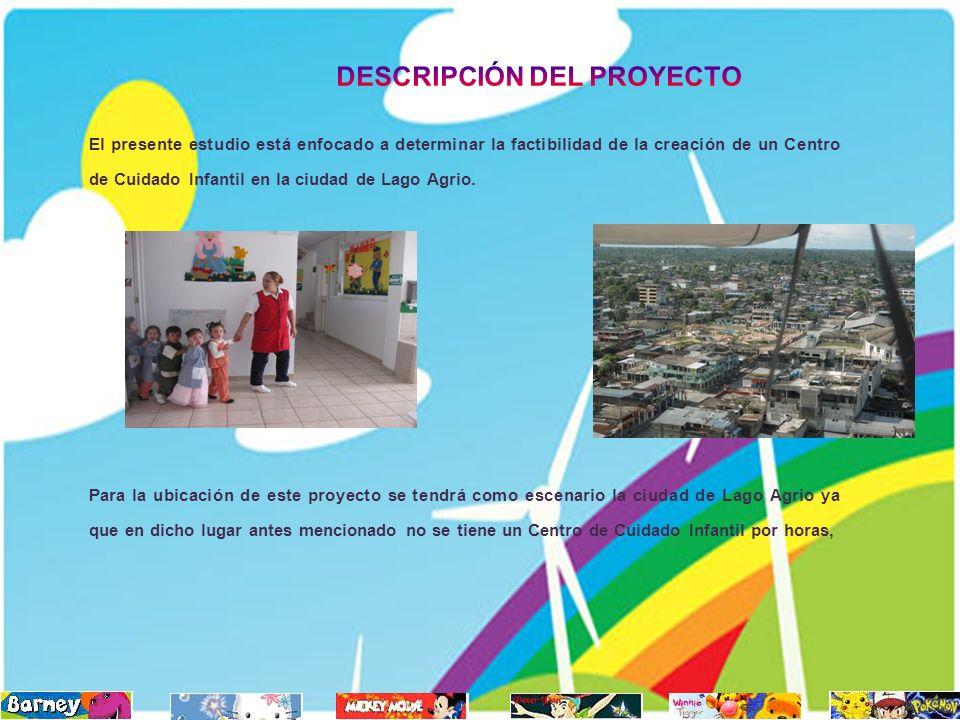 El presente estudio está enfocado a determinar la factibilidad de la creación de un Centro de Cuidado Infantil en la ciudad de Lago Agrio. Para la ubi