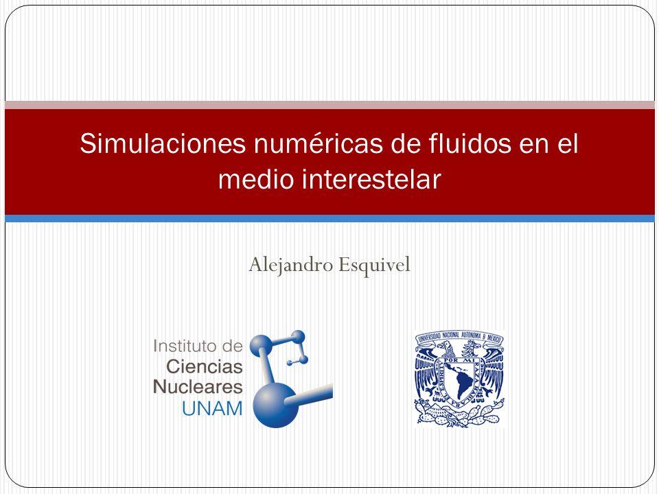 Alejandro Esquivel Simulaciones numéricas de fluidos en el medio interestelar