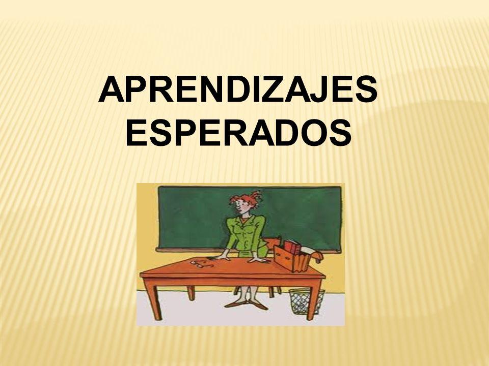 APRENDIZAJES ESPERADOS