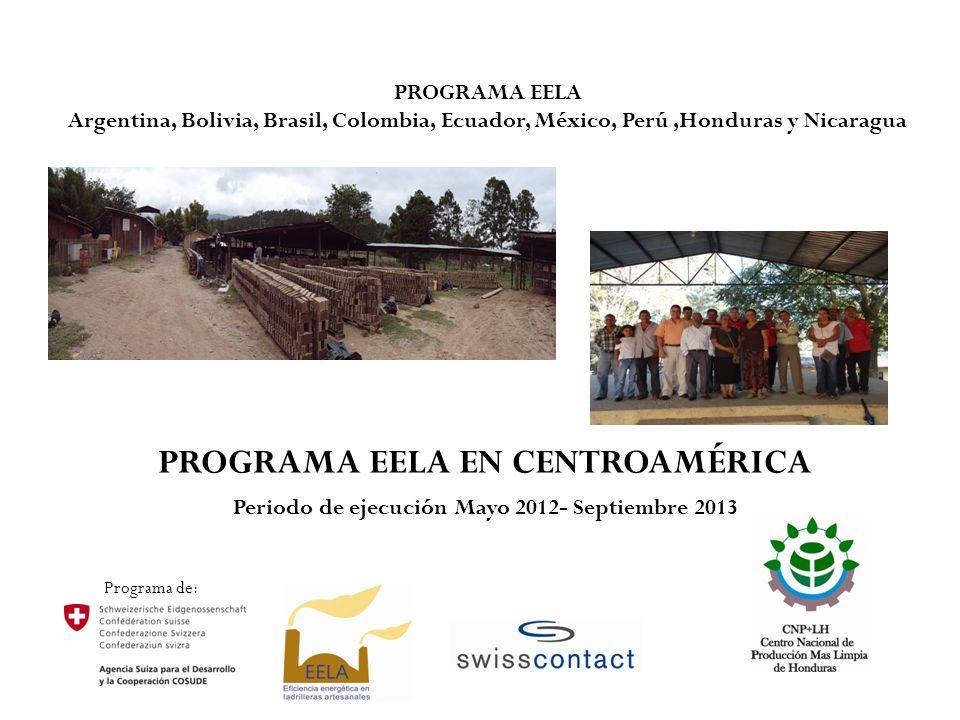 PROGRAMA EELA EN CENTROAMÉRICA Periodo de ejecución Mayo 2012- Septiembre 2013 Programa de: PROGRAMA EELA Argentina, Bolivia, Brasil, Colombia, Ecuado