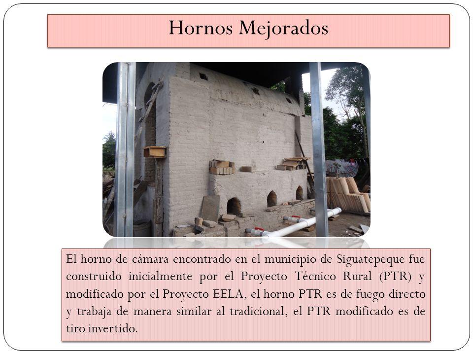 El horno de cámara encontrado en el municipio de Siguatepeque fue construido inicialmente por el Proyecto Técnico Rural (PTR) y modificado por el Proy