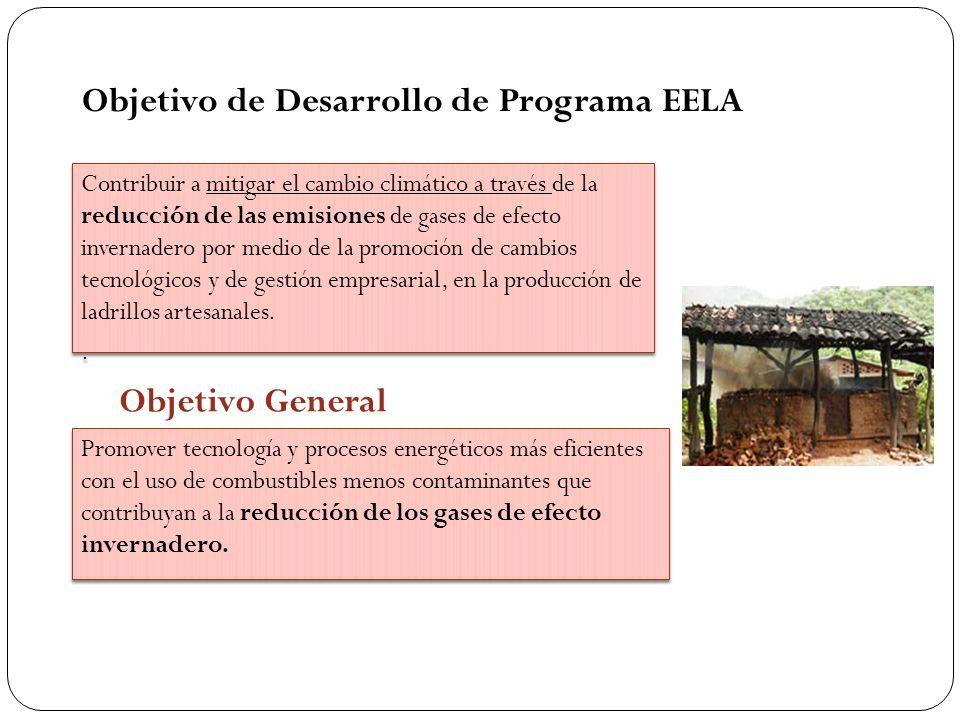 Objetivo de Desarrollo de Programa EELA Contribuir a mitigar el cambio climático a través de la reducción de las emisiones de gases de efecto invernad